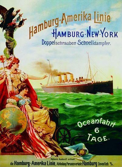 Hamburg-Amerika Linie New York Dampfer 1897
