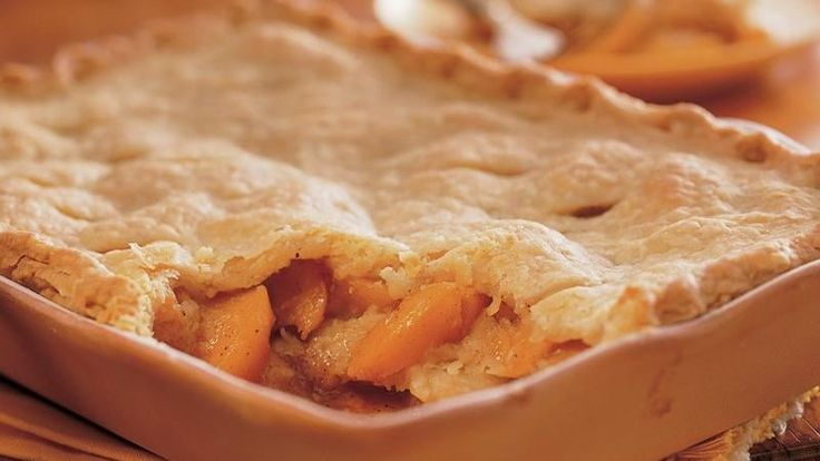 When two crusts in a cobbler just aren't enough, try this recipe.  You'll find three flaky layers separated by sweet, juicy peaches.