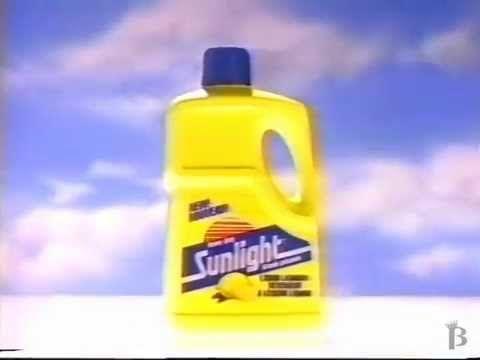 Sunlight Liquid Lanudry Detergent Commercial 1988