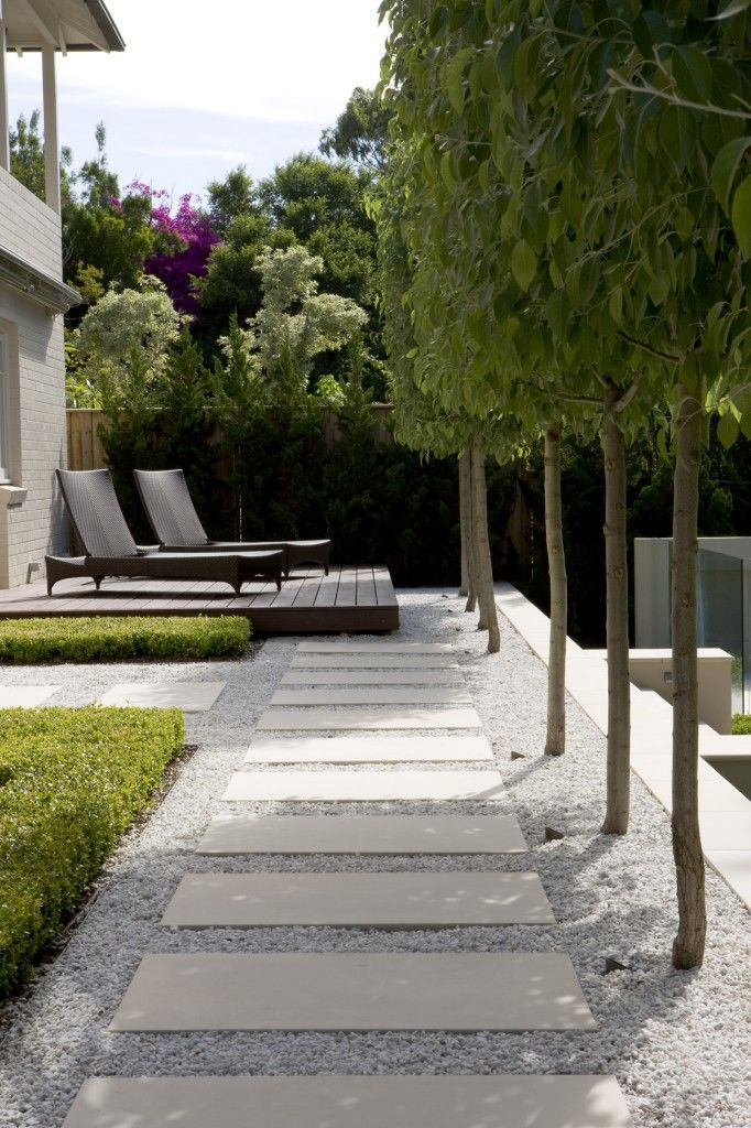 Concrete stepping stones in a contemporary setting…