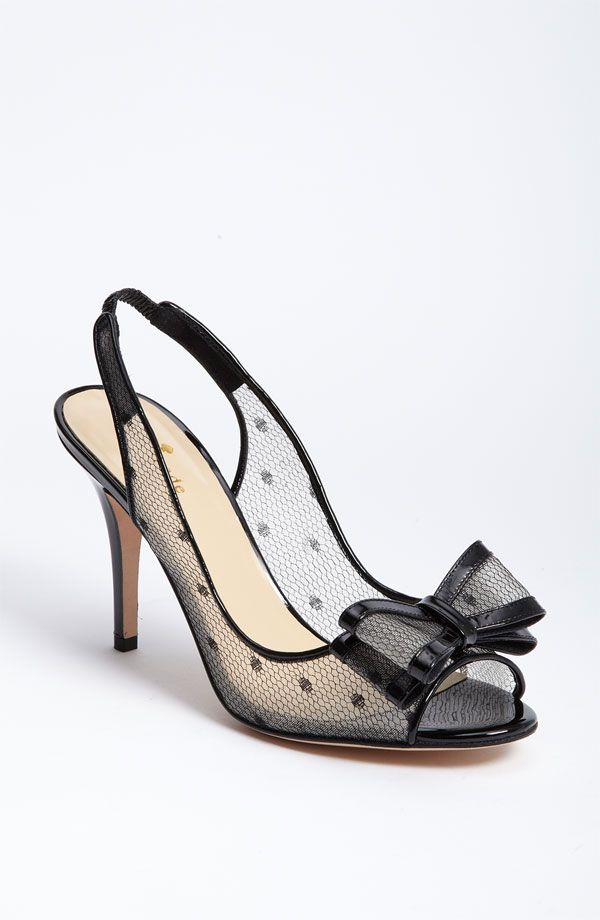 kate spade new york 'carline' pump  Wedding shoe? maybe for a black and white colored themed wedding. <3PenyaDS