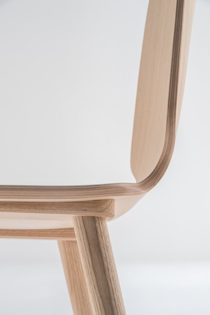 Wooden chair designs - Plywood Shell In Variable Thickness And Solid Ash Legs Pedrali Wood Chair