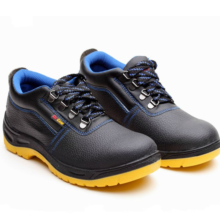 men fashion black steel toe caps working safety shoes spring autumn soft leather ankle tooling boots breathable comfort non-slip