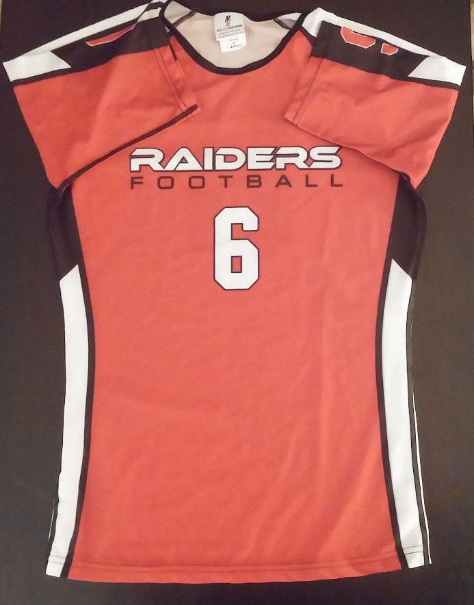 Northwestern College Red Raiders Football L Half Sleeve Gunshow Jersey #6 GPAC #neuedge #Jerseys