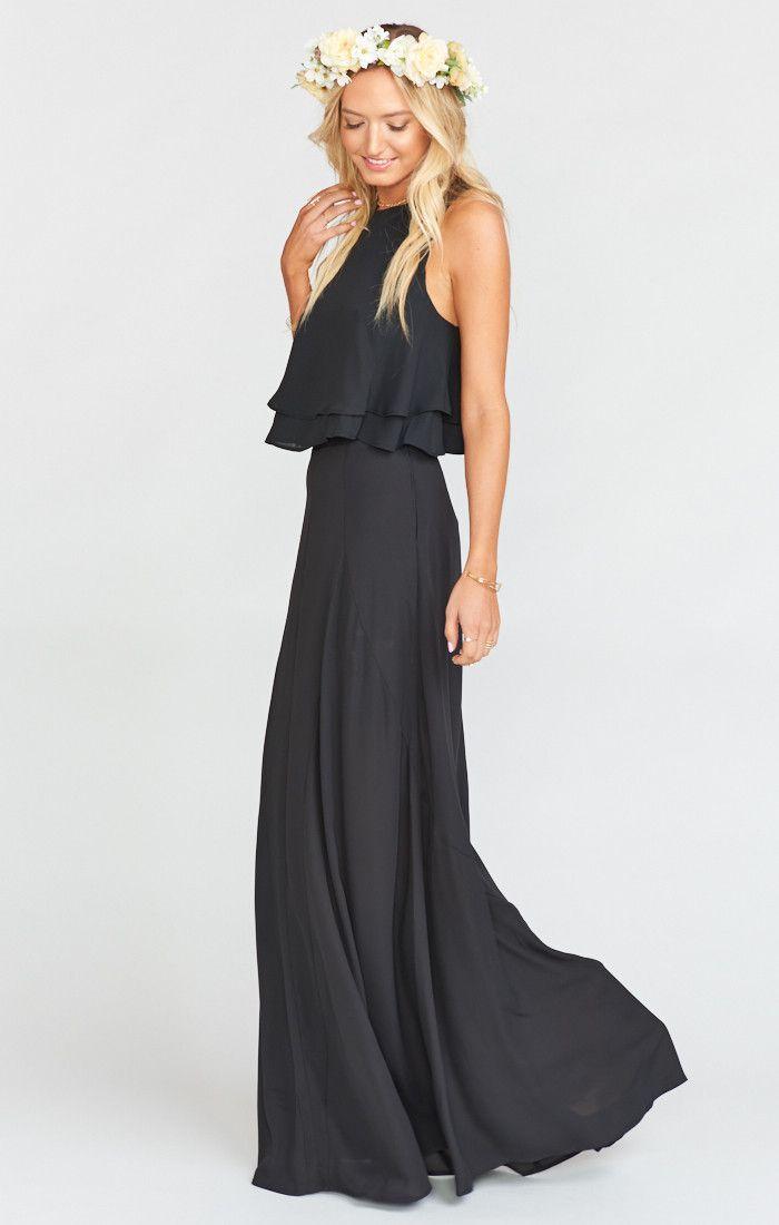 71 best Black Bridesmaid Dresses images on Pinterest | Black ...