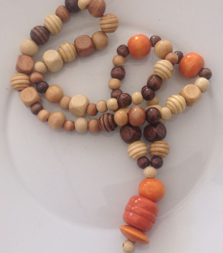 DIY COLLANA IN LEGNO  Creative ideas WOOD STYLE (wood necklace)