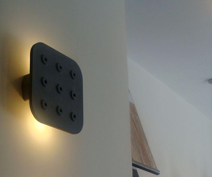 Quadrata-N wall light designed by Valentino Marengo