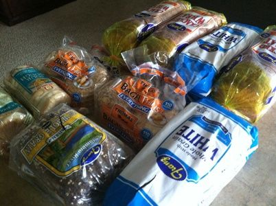 How to save money at the grocery store by shopping at bakery outlets. Bread lasts for months in the freezer!