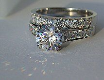 wedding diamond inspired engagement band fake cz rings celebrity