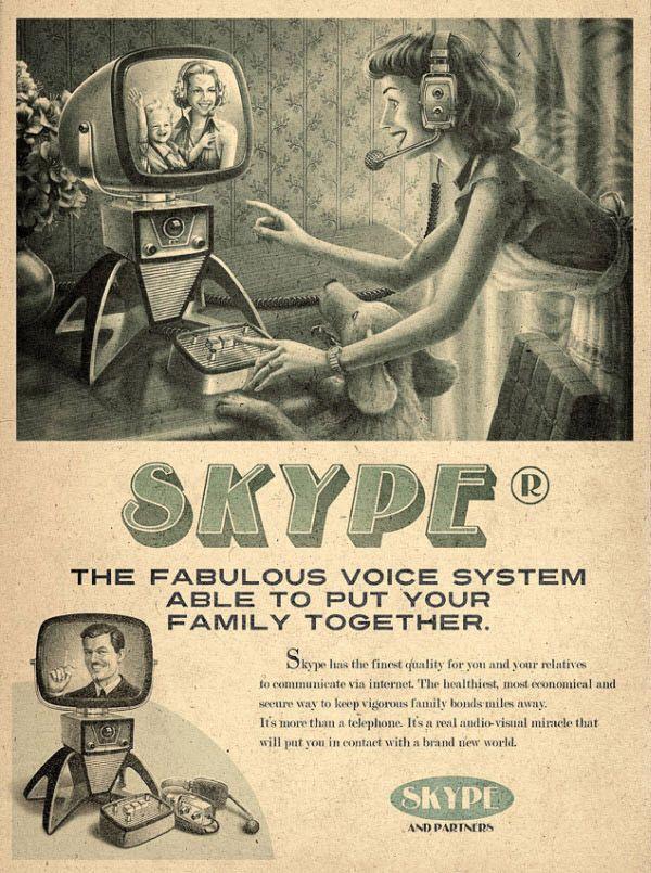 Vintage Advertisement of Modern Technology - Skype