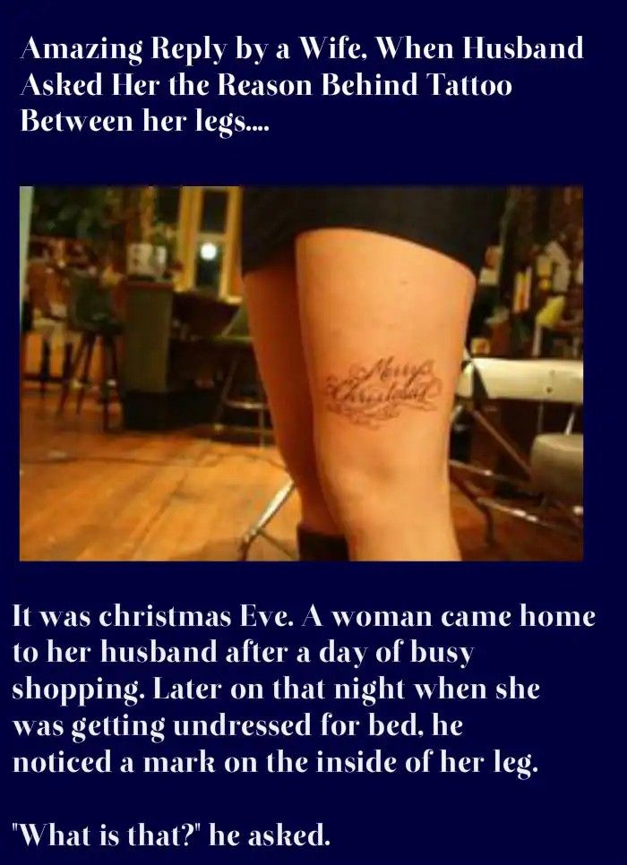 bc748c26261ba A Wife Got Printed Tattoo Between Her Legs……. | funny | Funny, Funny ...