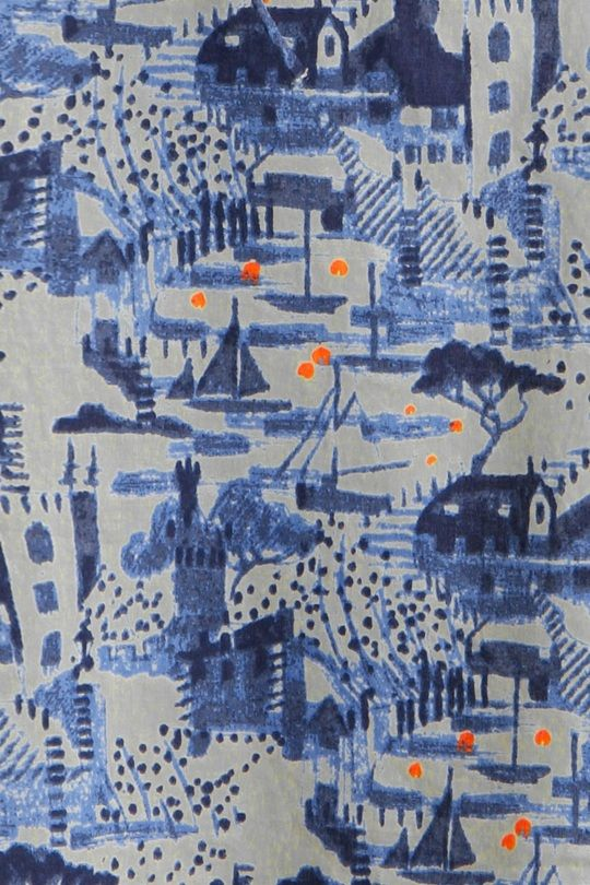 Unique SS15 print, Fowey View Stone, was inspired by the view from Polruan to Fowey.