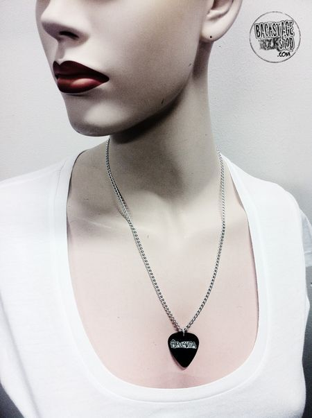 Plectrum necklace, Pendant - Apulanta. Designed and made by Jaana Bragge.