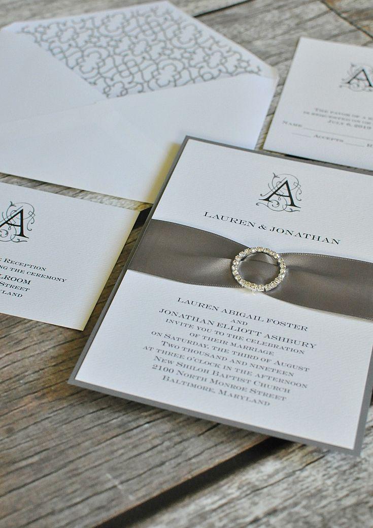 Sheer Sophistication Invitation Diy Wedding