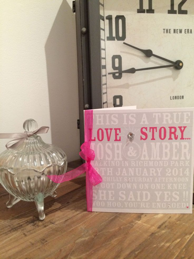 Personalised love story Engagement card @ etsy shop thingsilove.me