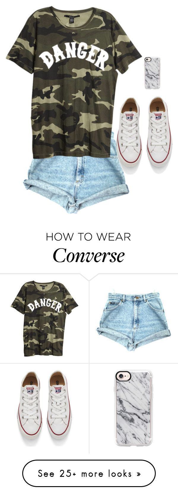 """""""Danger"""" by aysiaismej on Polyvore featuring Converse and Casetify"""