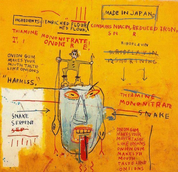 Basquiat / Onion Gum, 1983, Acrylic, oil paintstick, 196.9 x 203.2 cm