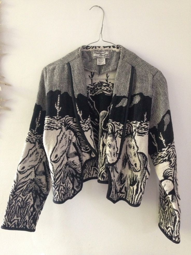 Vintage jacket with horse motive :-) Made in India.