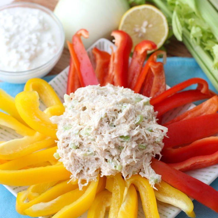 No Mayo Chicken Salad from Living Well Kitchen ~ high protein, egg free, gluten free, guilt free chicken salad