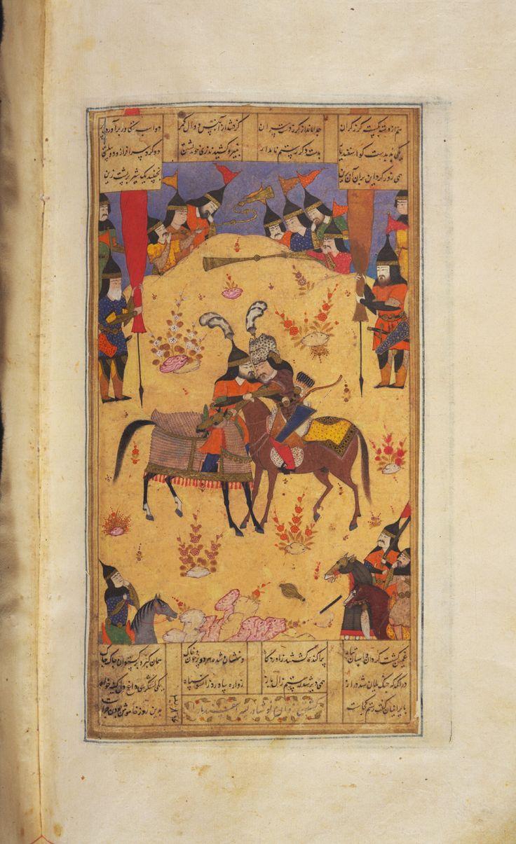 Rustam fights with Isfandiyar