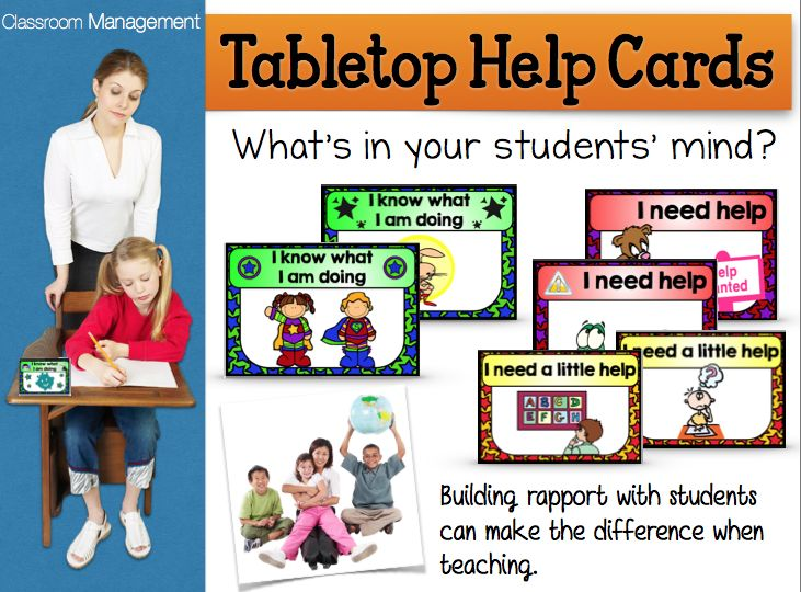Tabletop Help Cards - #classroom #management