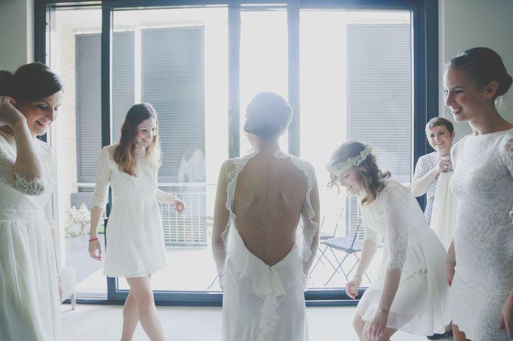Fanni is wearing Nora Sarman Alina gown / Nora Sarman Bridal