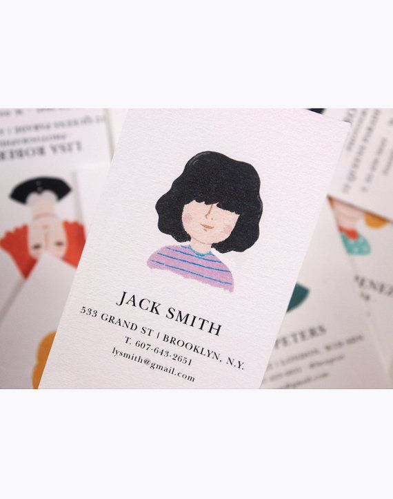 Personalized Business Cards by MelissaChaib on Etsy