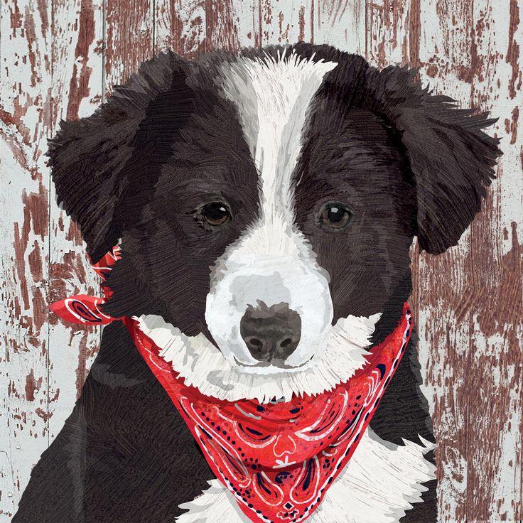 Melvin Napkin 33x33 cm #ppd #paperproductsdesign #dog #hund #animal #tier #designer #design #twocanart #portrait #napkin #serviette