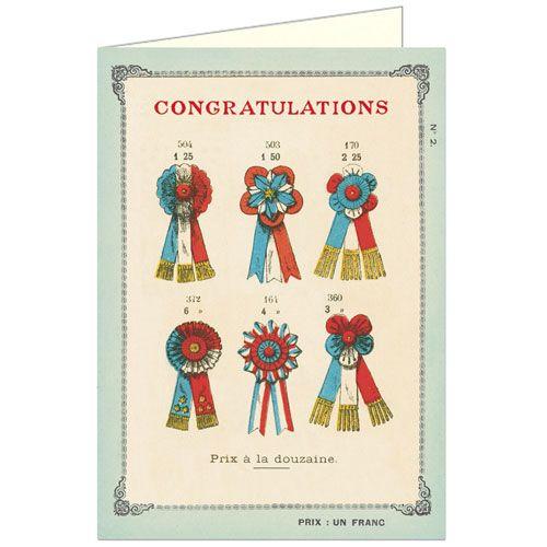Ribbons Congratulations Greeting Card
