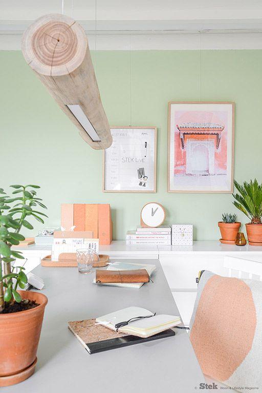 Meer dan 1000 idee n over verf lampenkap op pinterest - Photo deco kantoor ...