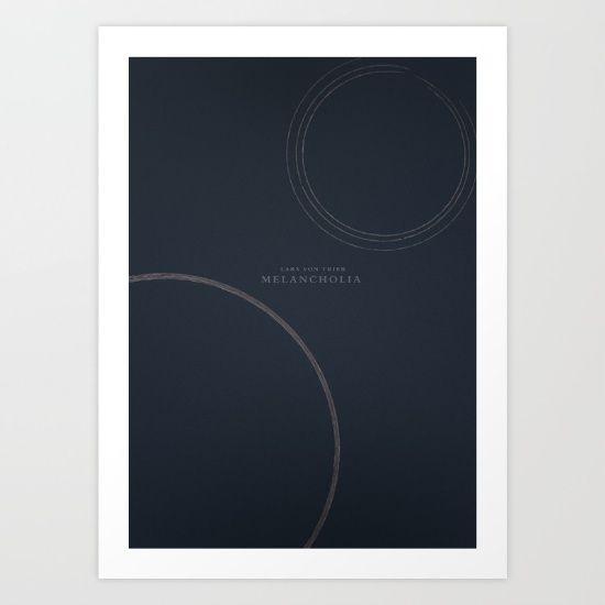 Melancholia - Lars Von Trier Movie Poster, minimal variant (n°1) Art Print