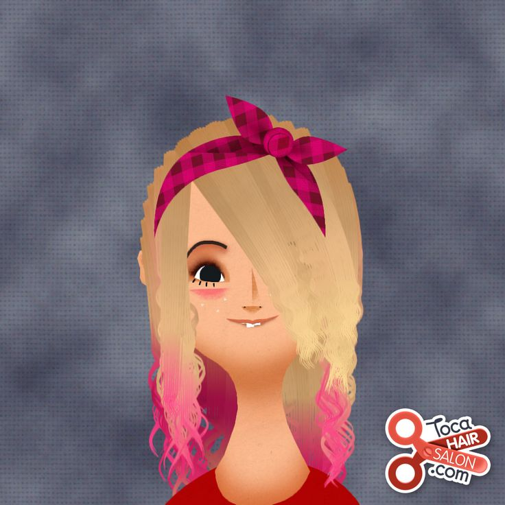 I made this hairstyle on toca boca hair salon 2 I love the game