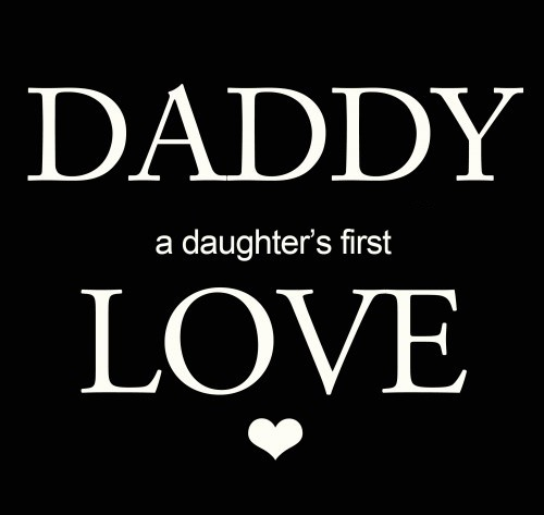 Love and Miss my Daddy so much ♥ I hope that my daughter learns to love her daddy again. It is so important for that relationship to be strong.