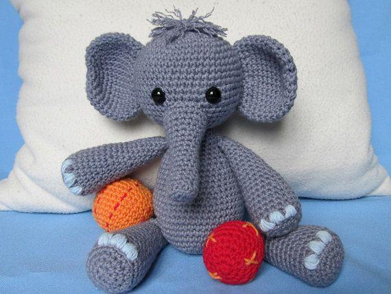 Playful Elephant Bert- Amigurumi Crochet Pattern / PDF e ...