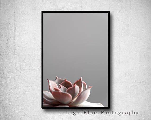 Blush Pink Print Succulent Print Cactus Printable Botanical