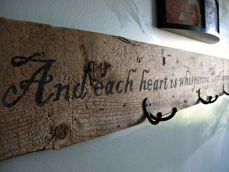 Things to make out of old barn wood with hooksjpg 800 for What kind of paint to use on kitchen cabinets for positive quotes wall art