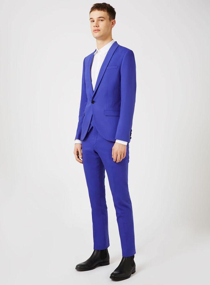 NOOSE & MONKEY Bright Blue Suit - Skinny Fit Suits - Suits - TOPMAN USA