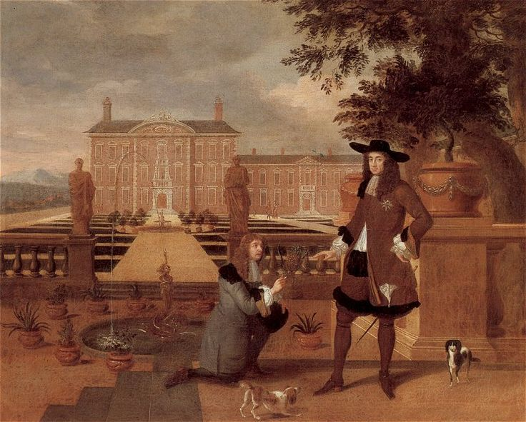 The History of Pineapple. A painting by Hendrik Danckerts from 1675 showing Charles II being given the first pineapple grown in England by his royal gardener, John Rose. Source: Wikimedia Commons