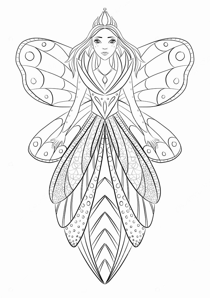 Fairy Queens Coloring Printable Pages For Kids Mandala Drawing Colouring Art Therapy Fairy Coloring