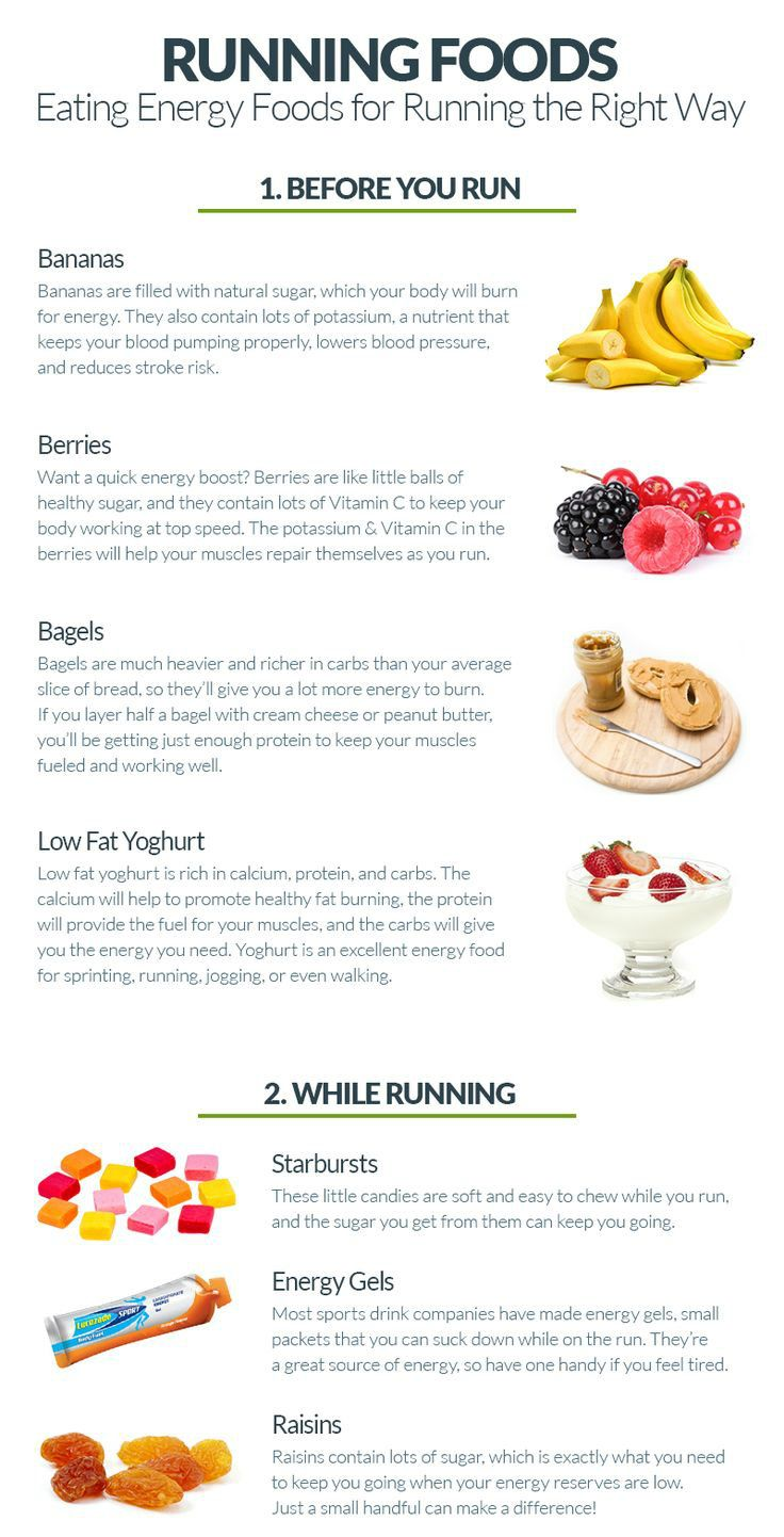 What to eat before and during a run