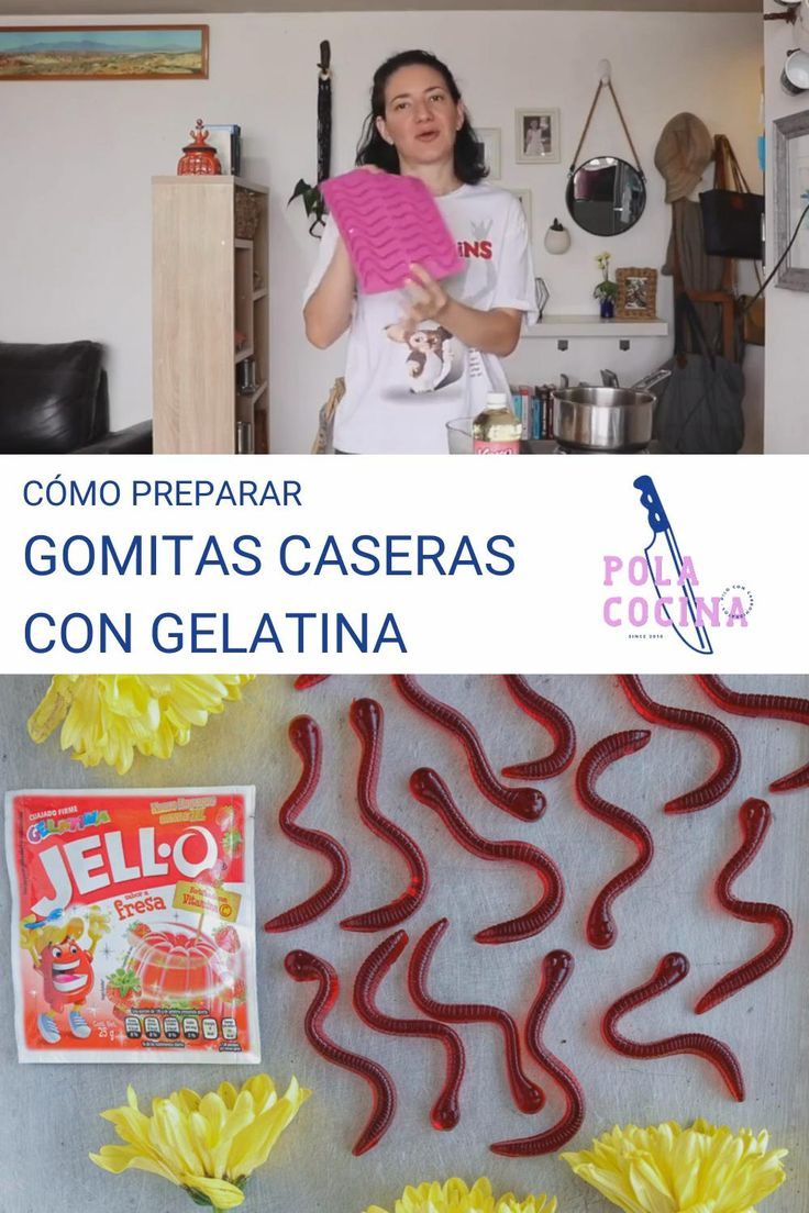 Aprende la receta de estos ricos dulces y prepáralos con tu gelatina favorita. Low Calorie Recipes, Cooking Time, Smoothies, Chips, Kids Rugs, Snacks, Crochet, Desserts, Crafts