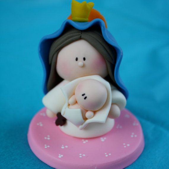 Party Favor - Mother of god -Madonna and Child - Virgen de la Caridad del Cobre