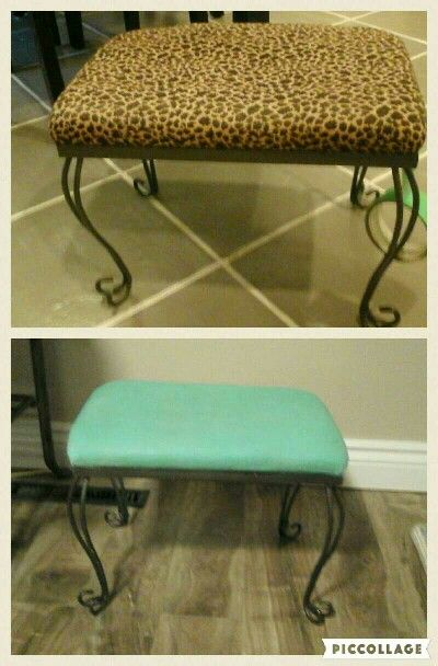 Before and after using chalk paint
