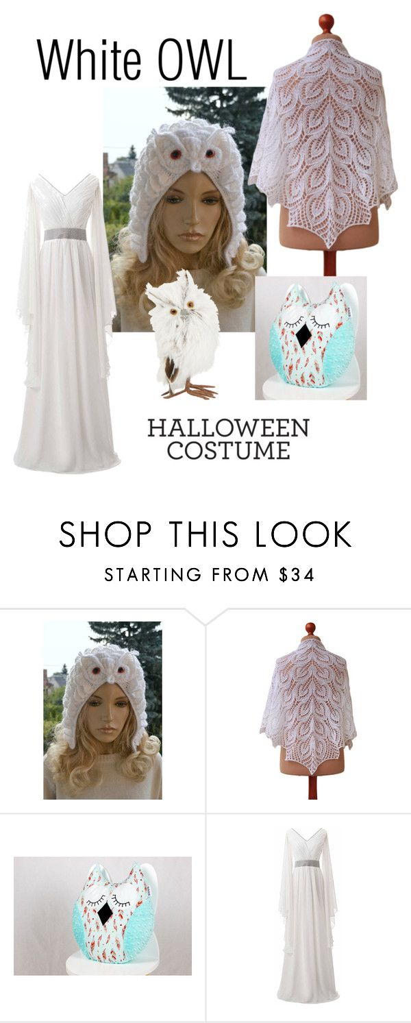 """White owl costume"" by landoflaces ❤ liked on Polyvore featuring GlucksteinHome"