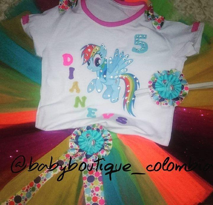 """Pedidos entregados!! """"Mi Cumpleaños de My Little Pony"""" Hermosos diseños para las fechas más especiales de nuestras pequeñas, cumpleaños,  separa el tuyo a tiempo,  diseños exclusivos qué confeccionamos con amor de mamá!! 😍😍.... En @babyboutique_colombia se visten las princesas más preciosas y exclusivas de #colombia... Información por WhatsApp 3044499965 #princesas #diseñosexclusivos #pedidolisto #bebes #clientesfelices #baby#babystuff#babyproducts#"""