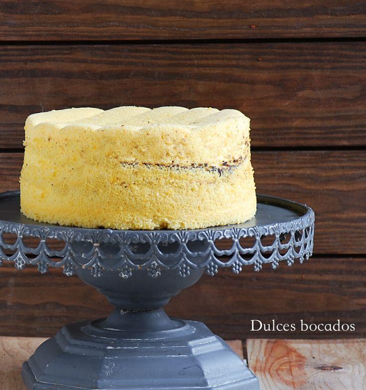 Passion fruit Ogura cake - Bizcocho japones de maracuya
