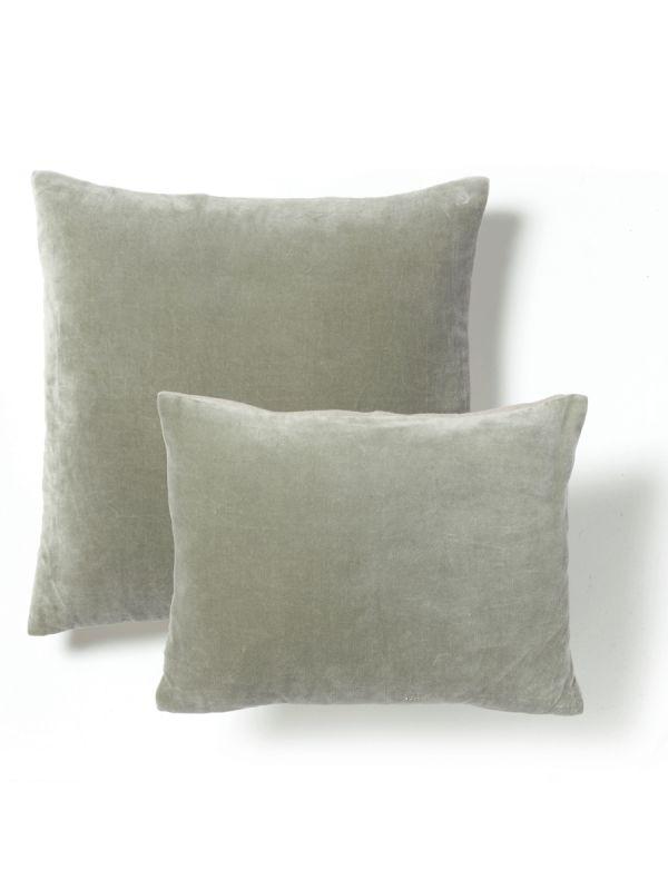 Velvet & Linen Cushions - Sage