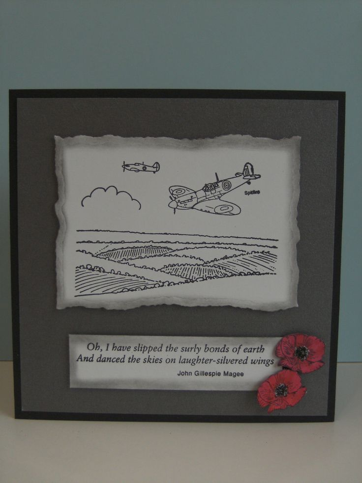 We used  Hobby Art Clear Stamp Set - Flypast.