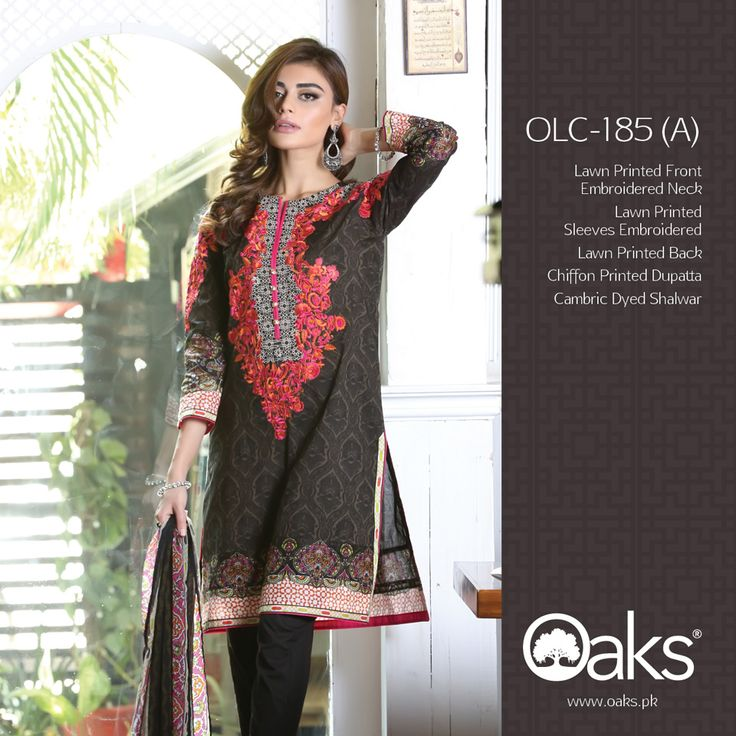 Lawn Suit with Chiffon Dupatta.  3 Piece: OLC-185 (A) | RS. 3,790 |  2 Piece: OLC2P-1204 (A) | RS. 3,390 |