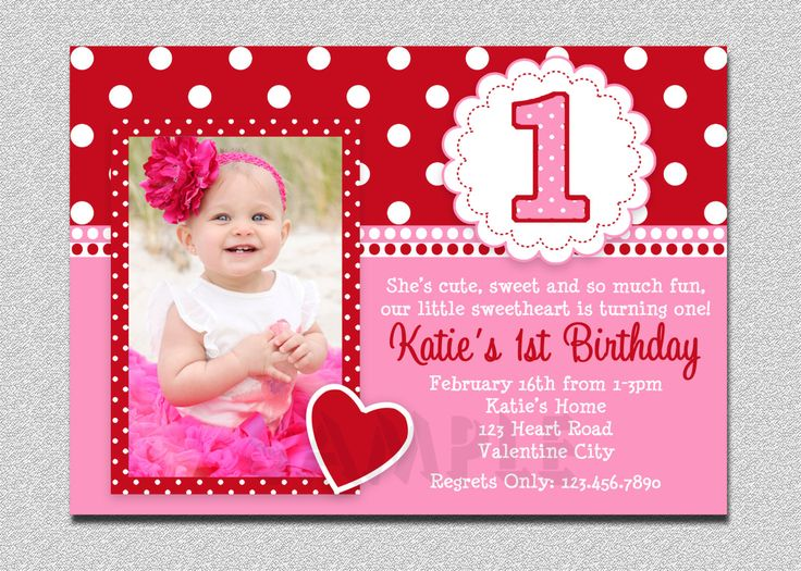 Best First Birthday Invitation Cards Ideas On Pinterest - Birthday invitation wording for 1 year old baby girl